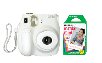 Fujifilm Instax Mini 7s Instant Film Camera with 10 sheets ~ White