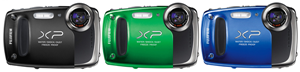 Fujifilm XP50 14MP 5x Zoom Li-Ion Waterproof Explorer Digital Camera Bundle ~ Blue/Green/Black